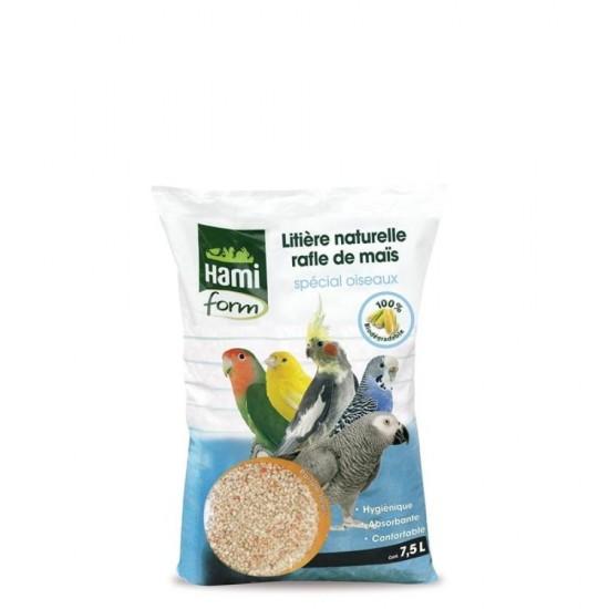 Lettiera naturale tutolo di mais con fiori per uccelli  7,5 L Hamiform