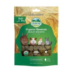 Oxbow Organic Barley Biscuits Treats - 70 gr alimento complementare per conigli e roditori