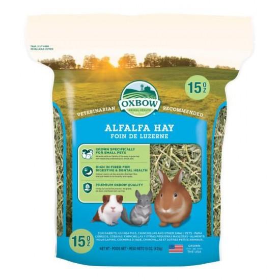Fieno Oxbow di erba medica - Alfalfa Hay - 425 gr CONSEGNA IN 24/48H mangime semplice per conigli e roditori