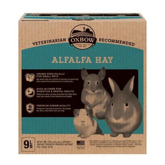 Fieno Oxbow di erba medica - Alfalfa Hay - 4.08 kg CONSEGNA IN 24/48H mangime semplice per conigli e roditori