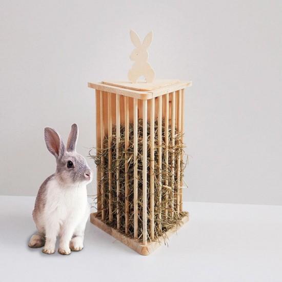 Fieniera Triangolare Rabbit Rosicchiando 42 h NEW semplicemente unica !!