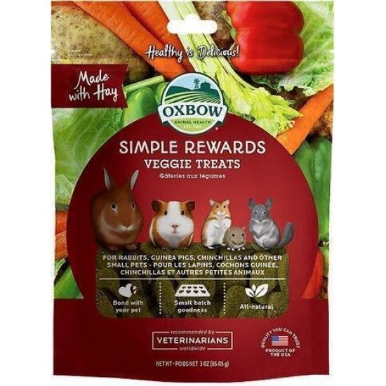 Oxbow Simple Rewards - Veggie Treats - 85 gr alimento complementare conigli e roditori