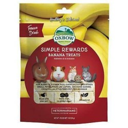 Oxbow Simple Rewards - Banana Treats - 30 gr alimento complementare per conigli e roditori